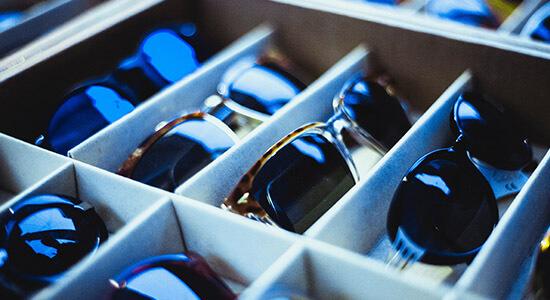 Große Auswahl an Sonnenbrillen